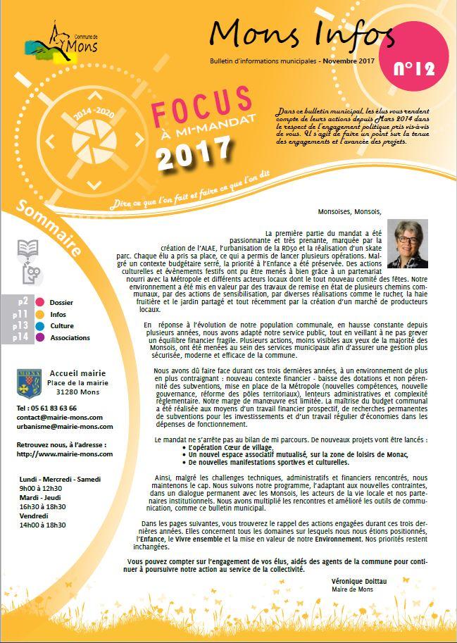 Mons infos N°12 – Novembre 2017