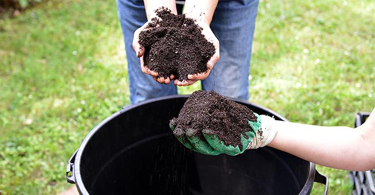 Réduction des déchets avec le compostage individuel